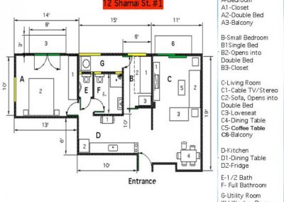 12 Shamai - Footage floor plan - option 6 - apt 1