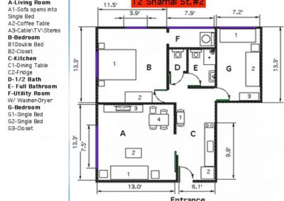 12 Shamai - Footage floor plan - option 6 - apt 2