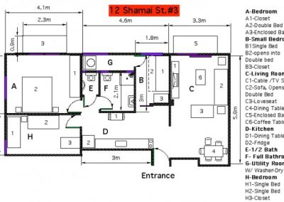 12 Shamai - Metric floor plan - option 3