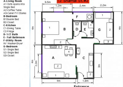 12 Shamai - Metric floor plan - option 6 - apt 2
