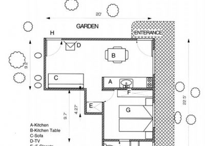 Mishpat Dreifuss - Footage floor plan